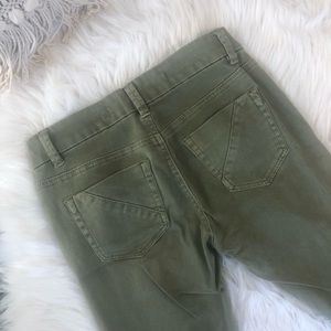 Anthropologie Jeans - Anthropologie army green beaded jeans